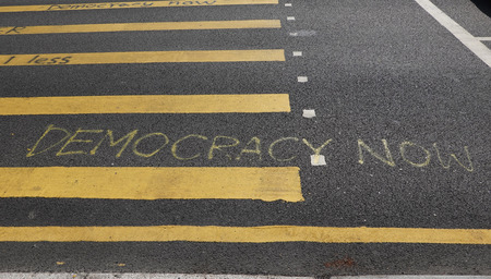 Antigovernment slogans sprayed all over Hong Kong by protesters