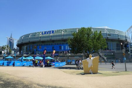 MELBOURNE, AUSTRALIA - JANUARY 29, 2009: Rod Laver arena at Australian tennis center in Melbourne, Australia.   It is the main venue for the Australian Open tennis championship since 1988
