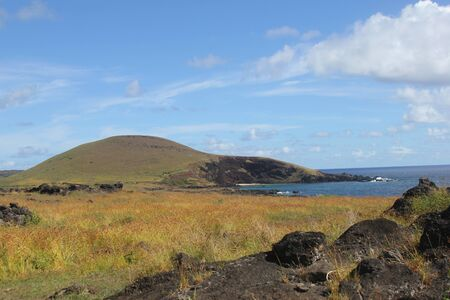 Typical landscape at the Easter Island, Chile Banco de Imagens