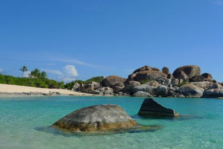 Rock formation at The Baths, British Virgin Islands Stock fotó