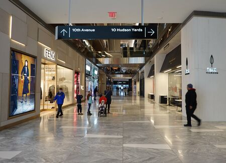 NEW YORK - DECEMBER 1, 2019: The Hudson Yards shopping mall  in New York
