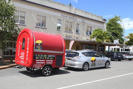 ROTORUA, NEW ZEALAND - FEBRUARY 2, 2019: El Mexicano Zapata Mexican restaurant  at the popular Eat Street in Rotorua, New Zealand. Eat Street is one of Rotoruas coolest hot spots in the city.