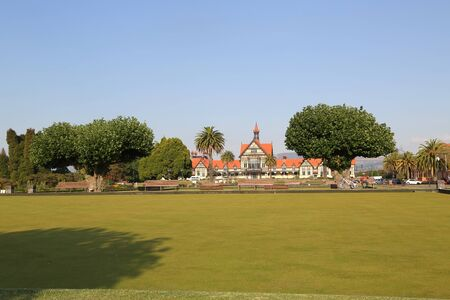 Rotorua Bowling Club at the Government Gardens in Rotorua, New Zealand