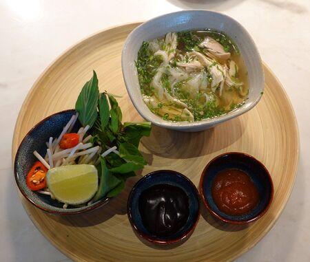 Traditional Vietnamese Pho Noodle Soup