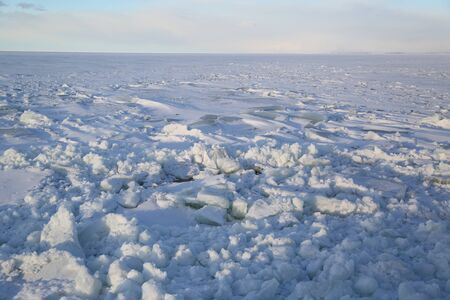Ice field with crushed ice in Baltic Sea Standard-Bild