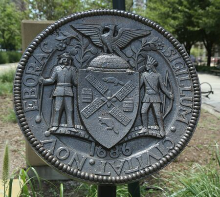 The seal of New York City