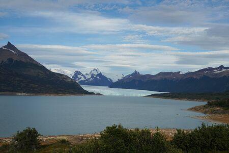Perito Moreno Glacier view from Mirador de los Suspiros in the Los Glaciares National Park in southwest Santa Cruz Province, Argentina 写真素材