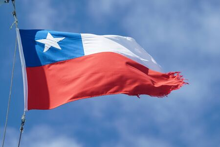 Flag of Chile. The Chilean flag is also known in Spanish as La Estrella Solitaria