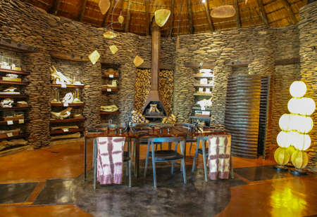 HAZYVIEW, SOUTH AFRICA - OCTOBER 1, 2018: Lobby in Singita Ebony Lodge located in Sabi Sands Game Reserve, South Africa
