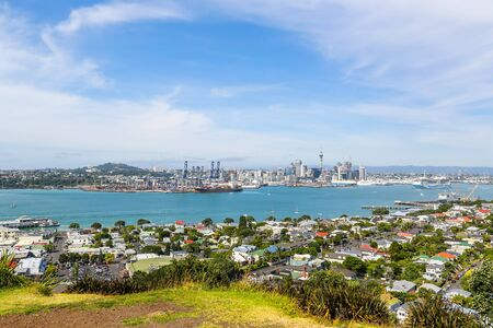 Panoramic view of Auckland from Mount Victoria