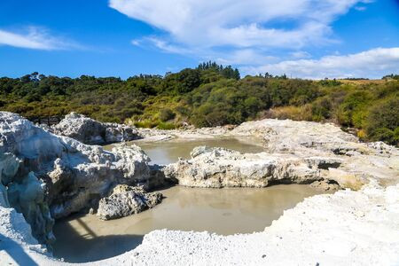 Devil's pool at Hell's Gate Geothermal Reserve and Mud Spa in Rotorua, New Zealand