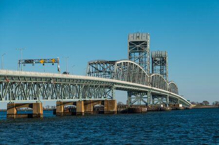 The Marine Parkway–Gil Hodges Memorial Bridge view from Brooklyn, New York Banco de Imagens