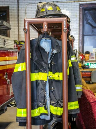Fire Fighter Gear at Fire Station