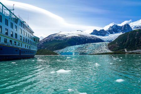 Pia Glacier in Parque Nacional Alberto de Agostini in the Beagle Channel of Patagonia, Chile