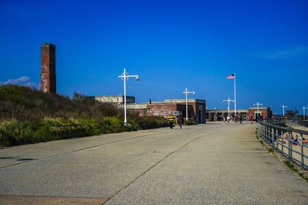 The Central Mall at Jacob Riis Park in Far Rockaway, New York