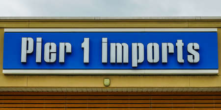 PARAMUS, NEW JERSEY - MAY 21, 2020: Pier 1 Imports store in New Jersey. Pier 1 Imports will go out of business and permanently close all 540 of its stores