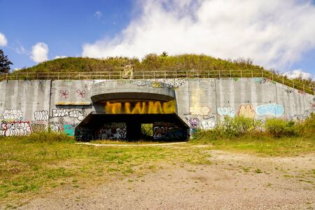16 in gun Casemate at the Fort Tilden, former United States Army installation on the coast in the New York City borough of Queens