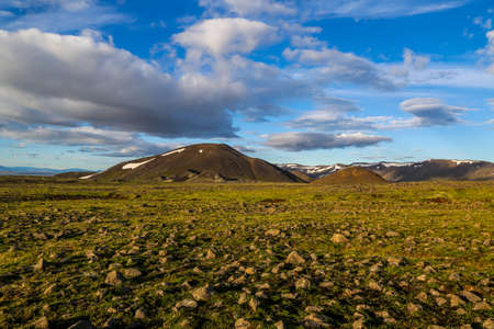 Typical landscape in Iceland