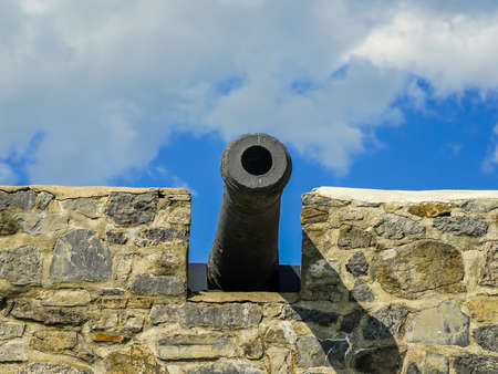 Old cannon in historic fort