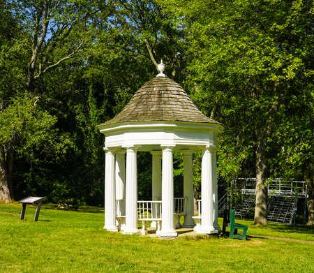 TICONDEROGA, NEW YORK - AUGUST 23, 2020: Historic King's Garden at Fort Ticonderoga in Upstate New York