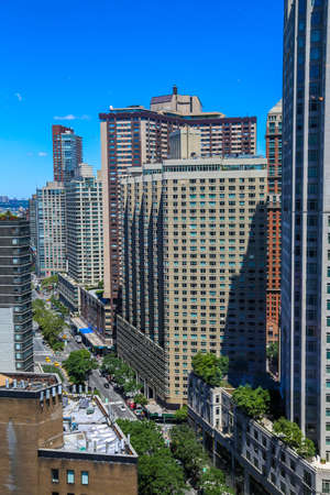 NEW YORK - JULY 30, 2017: Aerial view of 8th Avenue in New York City