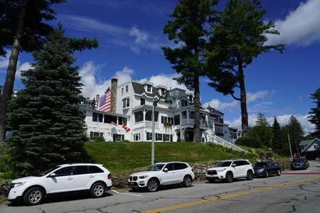 LAKE PLACID, NEW YORK - AUGUST 20, 2020: Mirror Lake Inn in Lake Placid, Upstate New York