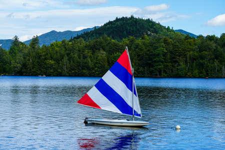 Beautiful Mirror lake in Lake Placid, New York State