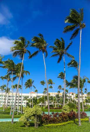 PUNTA CANA, DOMINICAN REPUBLIC - DECEMBER 31, 2018: Iberostar Grand Hotel Bavaro resort in Punta Cana, Dominican Republic