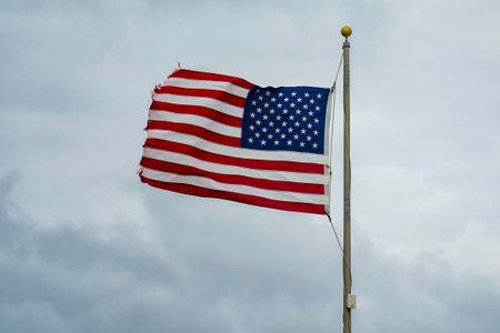 American flag flying at Atlantic Beach in Florida