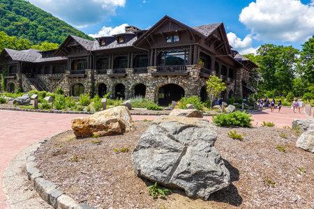 BEAR MOUNTAIN, NEW YORK - JUNE 21, 2020: Bear Mountain Inn at Bear Mountain State Park in New York