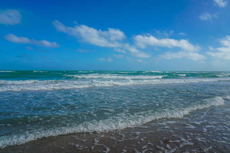 A beautiful white sandy beach in Florida