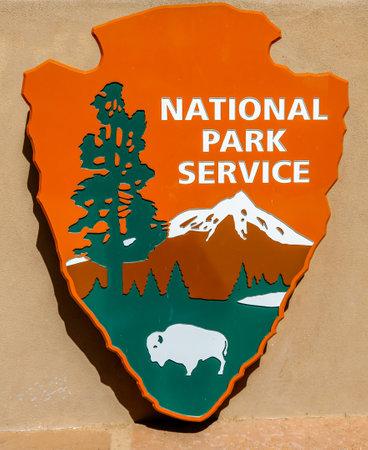 SPRINGDALE, UTAH - SEPTEMBER 24, 2014: National Park Service sign at Zion National Park in Utah