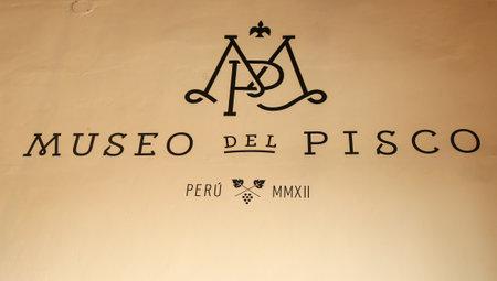 LIMA, PERU - SEPTEMBER 29, 2016: The Pisco Museum  in Historic Center ( Museo del Pisco del Centro de Lima) in Lima, Peru