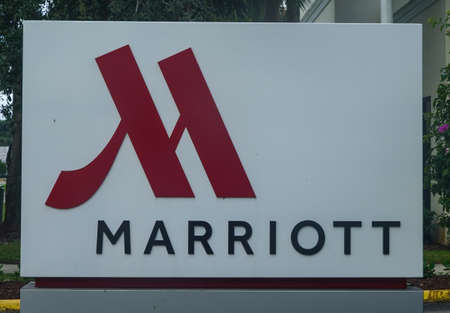 PALM BEACH GARDENS,  FLORIDA - OCTOBER 28, 2020: Marriott Palm Beach Gardens. Marriott International, Inc. is an American diversified hospitality company that manages and franchises a broad portfolio