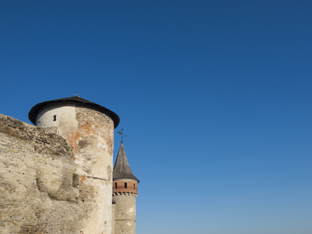 average age: The tower of the old fortress in Kamianets-Podilskyi. Kamianets-Podilskyi. Ukraine. August 2, 2015.