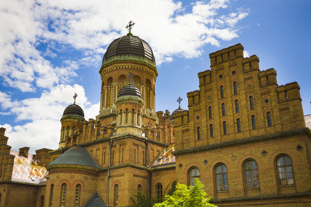campus tour: Chernivtsi National University building, listed in UNESCO World Heritage Site. Ukraine. Editorial