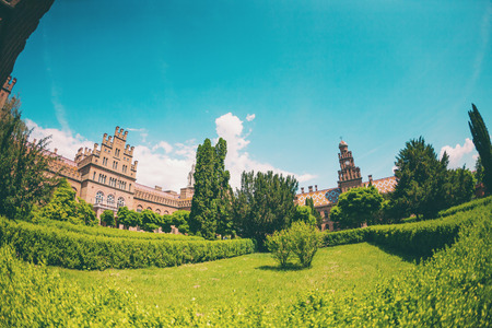 Chernivtsi National University. Education in Ukraine. Beautiful old building. Sights of Chernivtsi. Historical building. Standard-Bild - 115828952