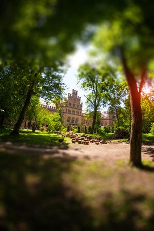 Chernivtsi National University. Education in Ukraine. Beautiful old building. Sights of Chernivtsi. Historical building. Standard-Bild - 115828955