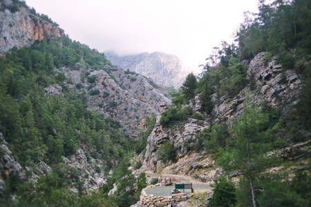 Beautiful canyon, picturesque nature of Turkey, sights of Turkey, mountain range