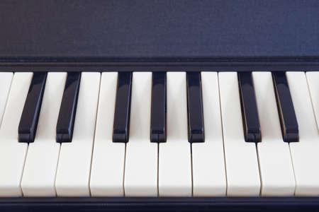 White and black piano keys, close-up background Stock Photo