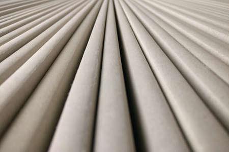 Background of round longitudinal parallel stripes, gray texture
