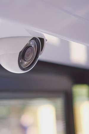 Security camera to spy on people on the bus