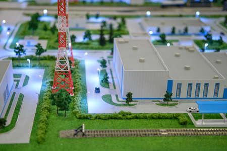 Layout of the Vostochny cosmodrome. Exhibition Days of the far East - Moscow, Russia, 12 13 2019 Editorial