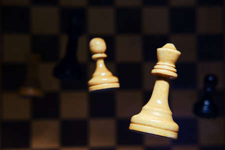 The concept of pawn-to-queen promotion. Concept of problems of playing and learning chess Imagens