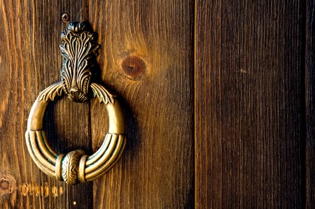 old metal door-handle Stock Photo - 4567032