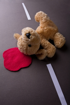 the dying: death toy dog (accident on the road with a toy dog)