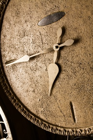 filthy: retro-styled iron clock face