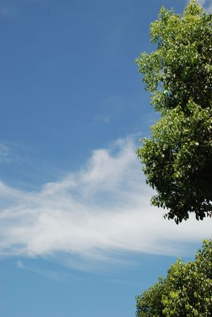 illusory: cielo azul, nubes blancas Foto de archivo