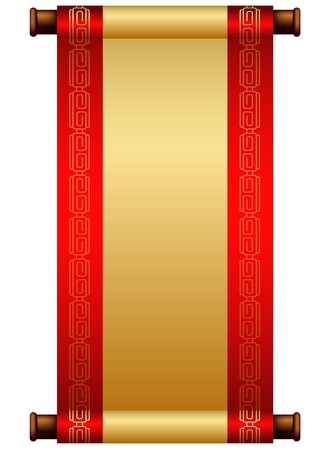 Chinese scroll illustration with place for your text