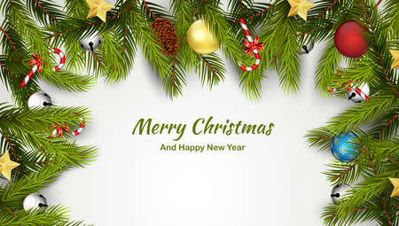 Merry christmas and happy new year Иллюстрация